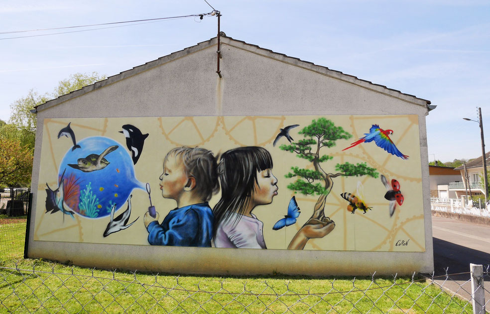 fresque-murale-street-art-écologie-poésie-animaux