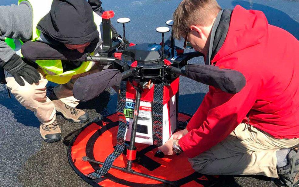 Se lleva a cabo la primer entrega de órganos para transplante con un dron Matrice 600 Pro capaz de soportar hasta 5 kg