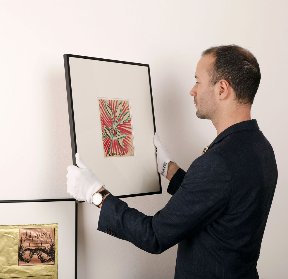 Blume: Bernhard Blume Artwork / Original 1984 and Matthias Bechtle