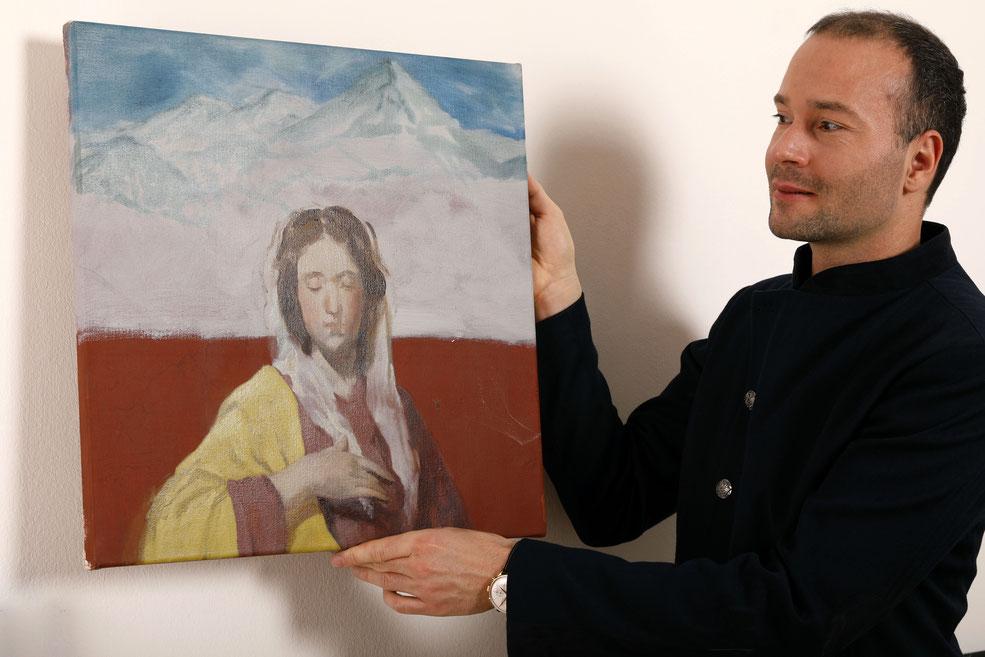 Patricia Kaliczka Ölbild oil painting (Matthias Bechtle)