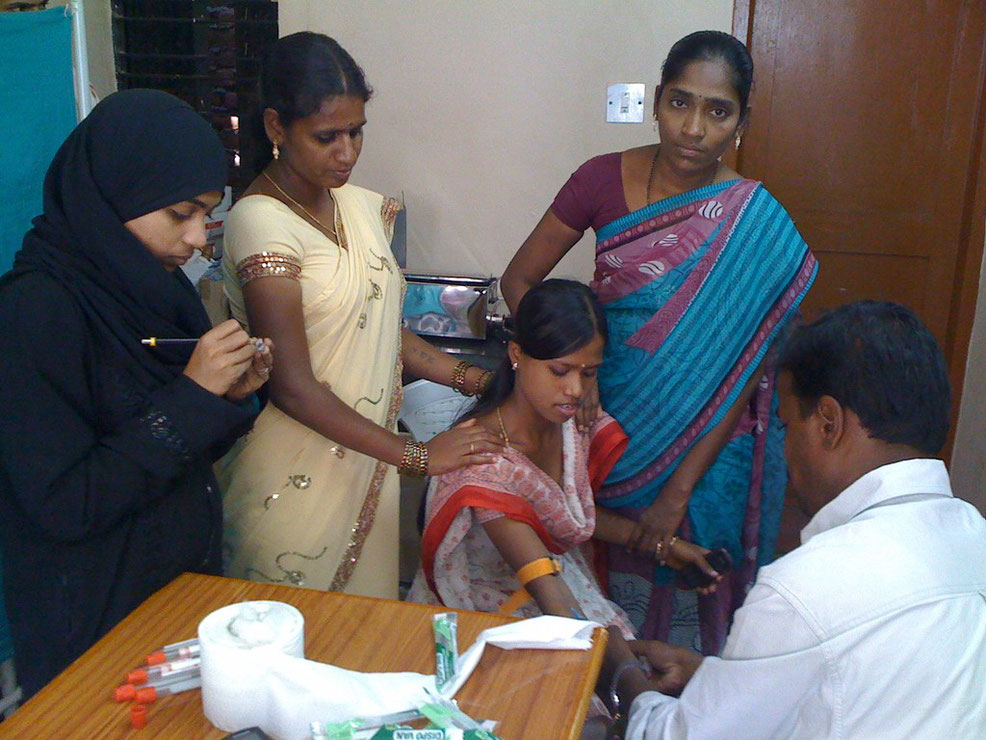 Offering free HIV tests to a woman