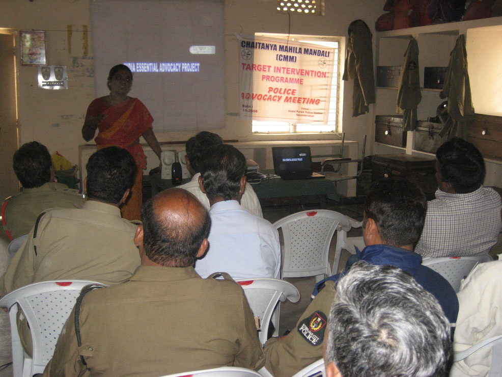 One of the police advocacy sessions.