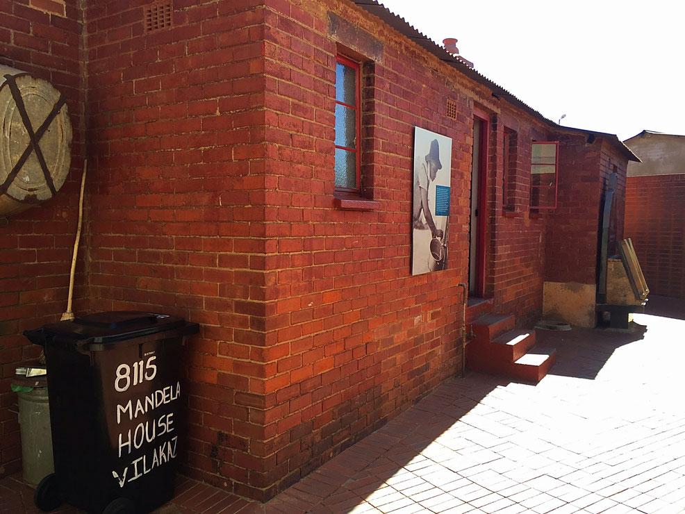 Entrée de la maison de Nelson Mandela dit Madiba