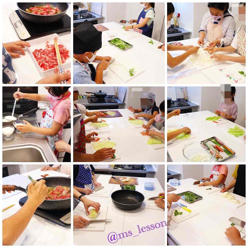 エムズレッスン   山岡真千子  親子料理教室 子供料理教室