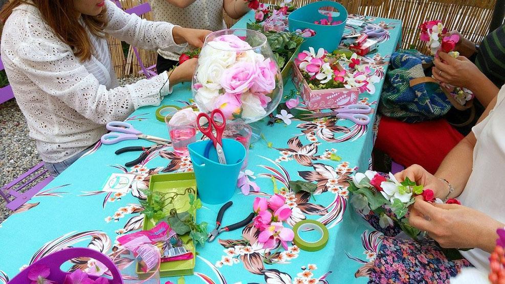 Atelier diy couronne de fleurs les ateliers de laur ne ateliers cr atifs p - Diy couronne de fleurs ...