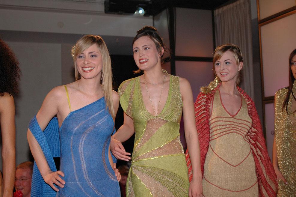 Strick design strick kleid knit dress blau rot grün gold lurex - kleider sexy Kleid party Kleid