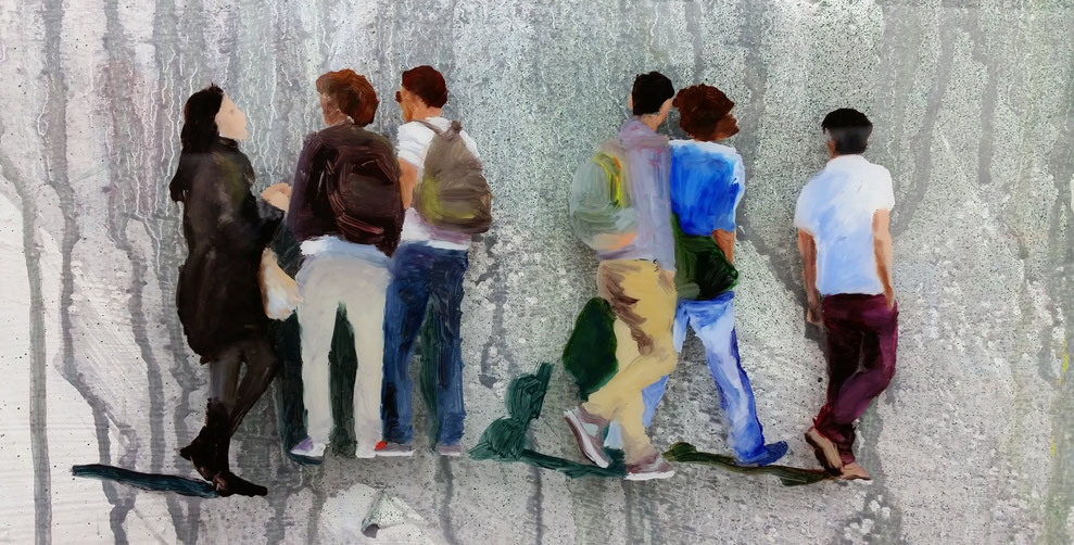 Heike Ludewig Menschen Gemälde Strasse
