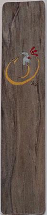 MQG24_2401 - Marque-Page Coq stylisé - 24x5cm - Atelier Eclats de bois38