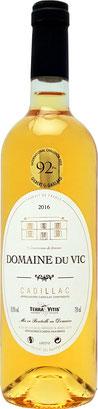 Domaine du vic 2016 - 2018, le point 2020, RVF juin-août 2020, vin doux, sweet wine, liquoreux cadillac, médaille cadillac