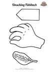 Schablone Fühlbuch Umschlag, Nähanleitung, Nähanfänger, Applikation Hand