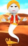 Aladin s'échappant de la lampe