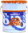 Adhesivo asfáltico base solvente de gran capacidad adherente, ideal para acabados asfálticos prefabricados de impermeabilización como fieltros, techados (CapSheet) y tejas mineralizadas.
