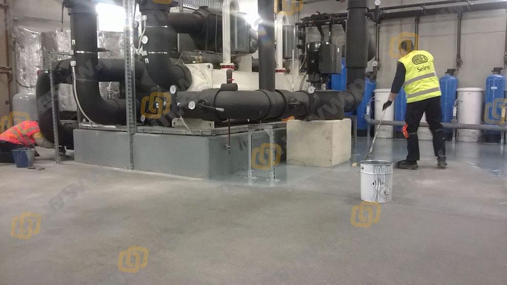 Pavimentos continuos de resina para la industria química