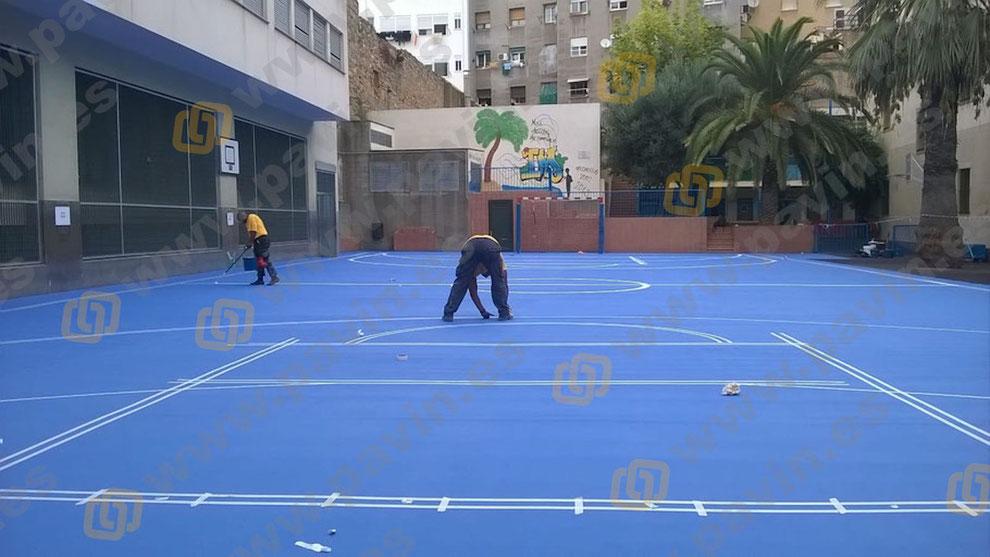 Pavimentos continuos de resina para espacios deportivos