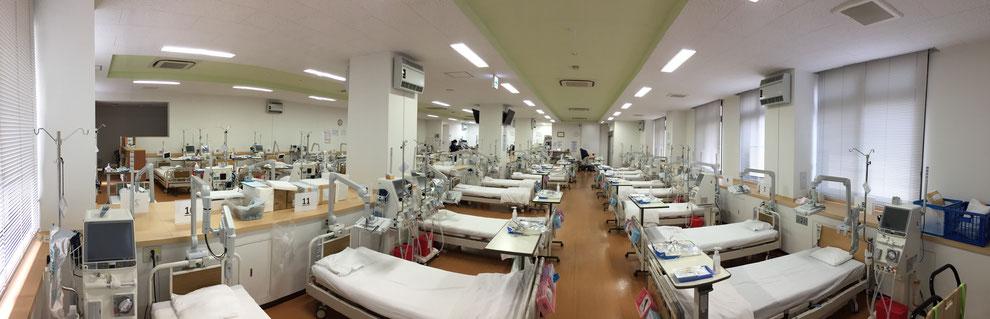 透析病院に設置されたハイビガーの写真