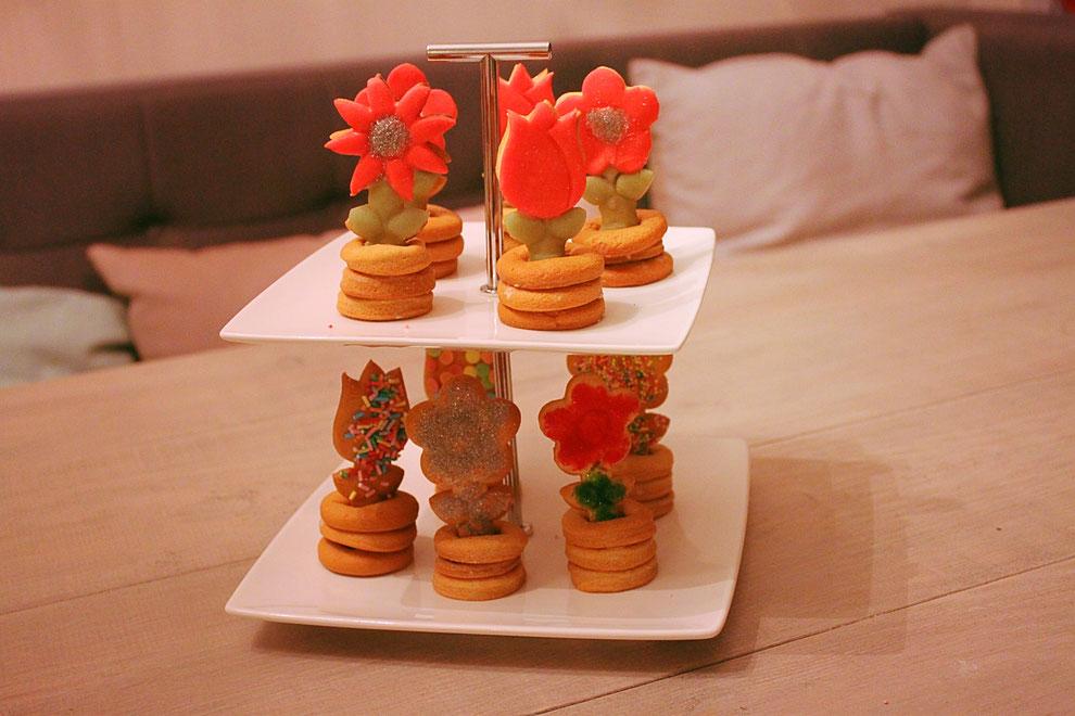 3D koekje bij de koffie na het kerstdiner