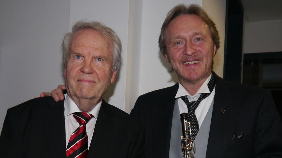 Hartmut Wettges und Albrecht Mayer (v.l.)