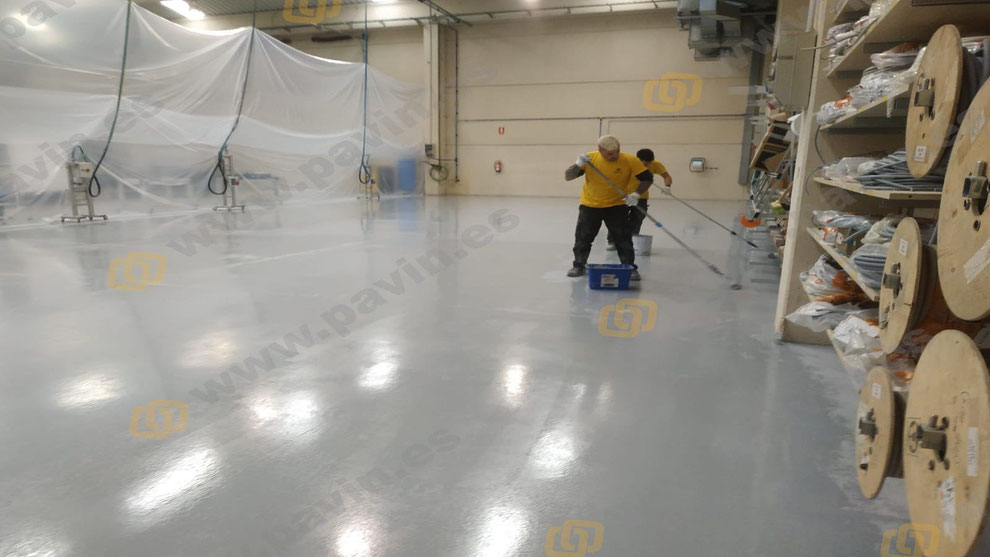 Painting resin floors for supply warehouses