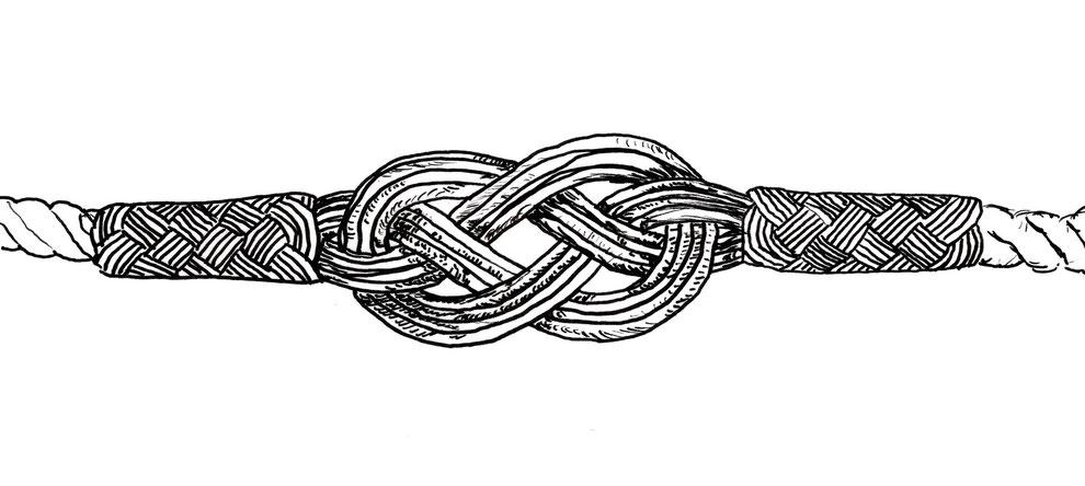 Kordel- Armbänder, Colliers, Ohrringe / Ohrhänger, Anhänger, Kollektion Endlosknoten