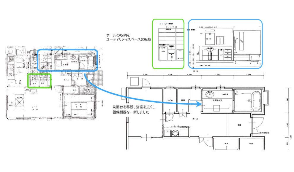1階 洗面・浴室・ユーティリティースペース