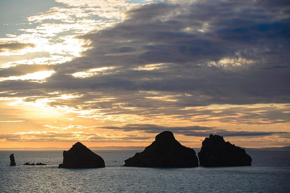 Abendstimmung auf den Westmänner Inseln