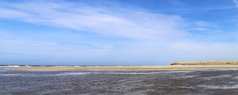 Nordsee-Strand bei Naturschutzgebiet Slufter auf Texel