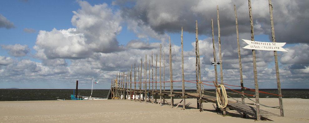 Anleger Vlieland-Fähre im Norden von Texel