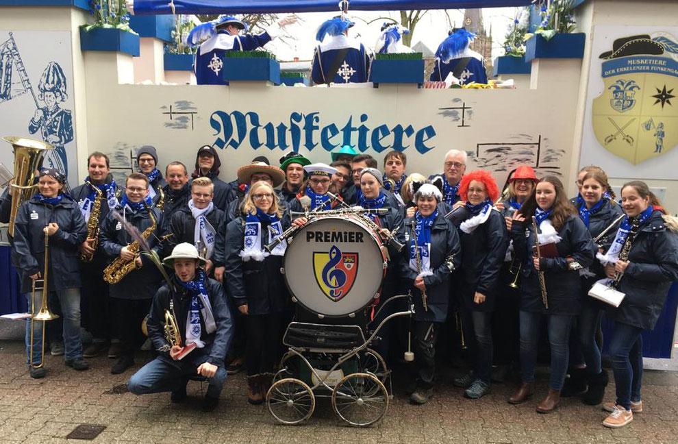 Städtischer Musikverein Erkelenz 1829 e.V. beim Rosenmontagszug  2020 in Erkelenz