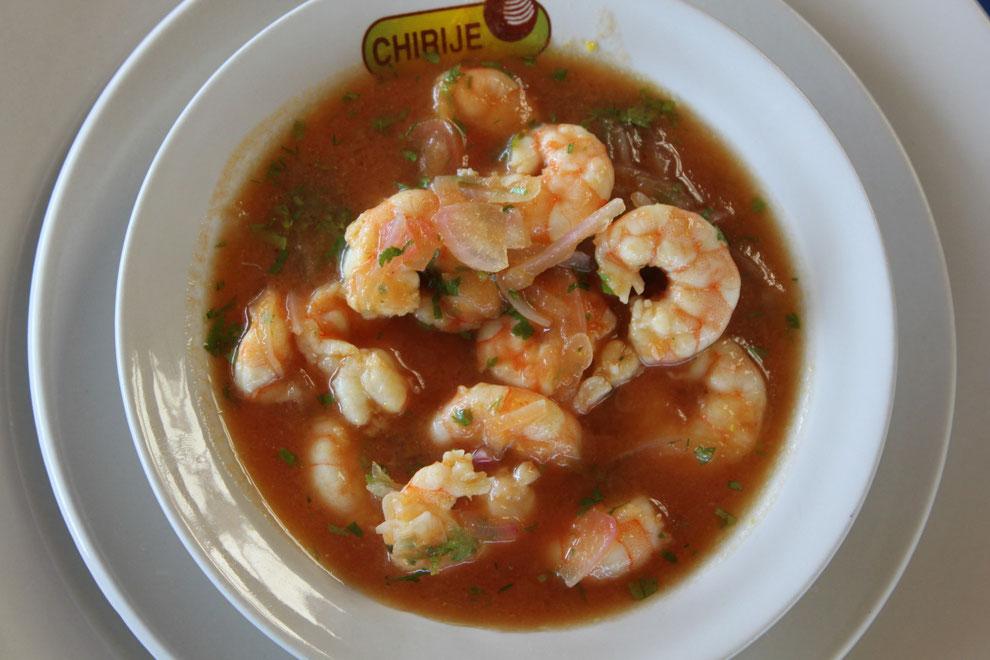 Kulinarisches in Ecuador, Ceviche de Camerón, ein kalter Krabben-Cocktail