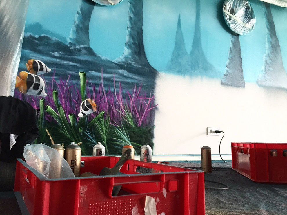 graffiti malerei korallen Stadion büro unternehmen
