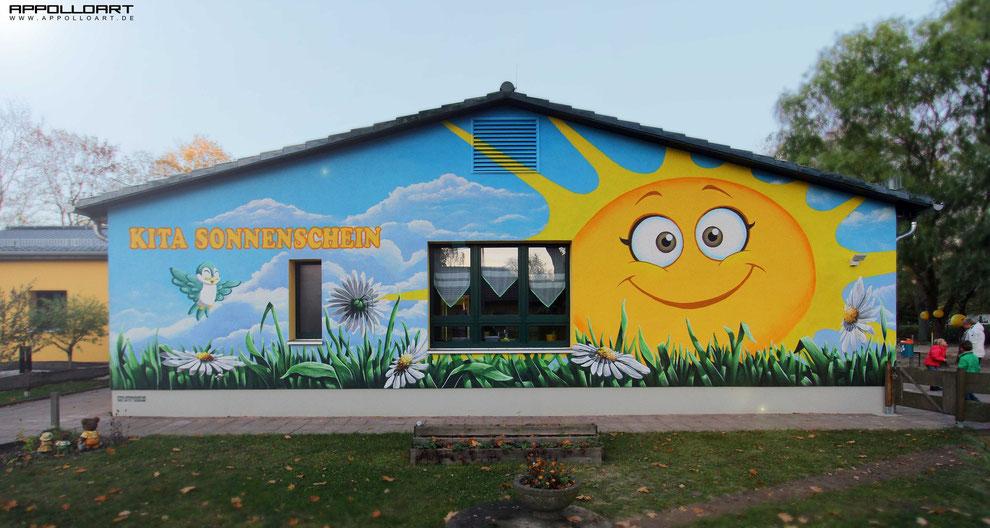 Kindergarten und Graffiti Wandmalerei design