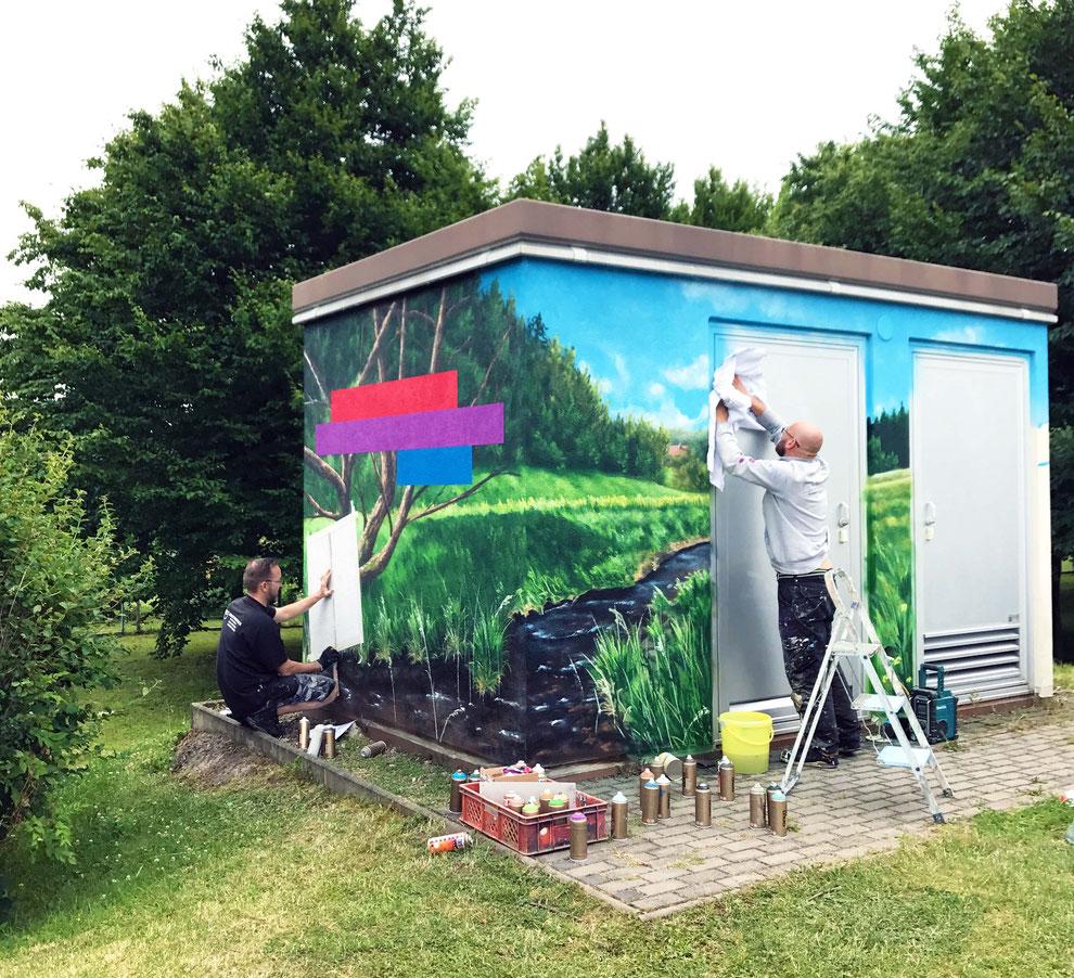 graffitkunst für Energiekonzern