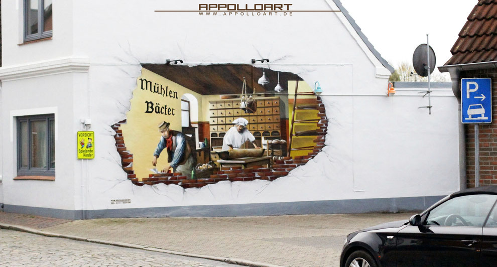 Hamburg b cker illusionsmalerei graffiti k nstler und - Wandmalerei berlin ...