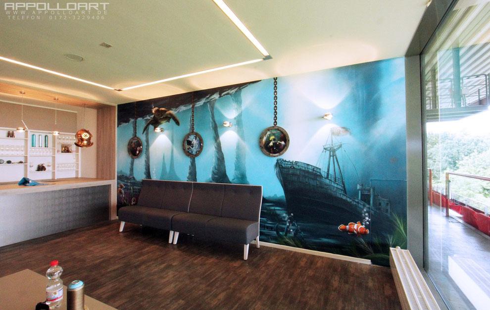 malerei und design im b ro f r meeting tagungen graffiti k nstler und auftrag. Black Bedroom Furniture Sets. Home Design Ideas