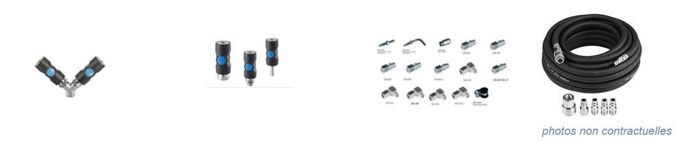 air comprimé / hydraulique - levage - raccords flexibles