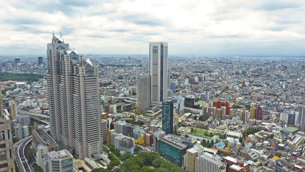 Image of Tokyo skyscrapers.  Tokyo is one of the 4 regions designated as startup global base cities in Japan