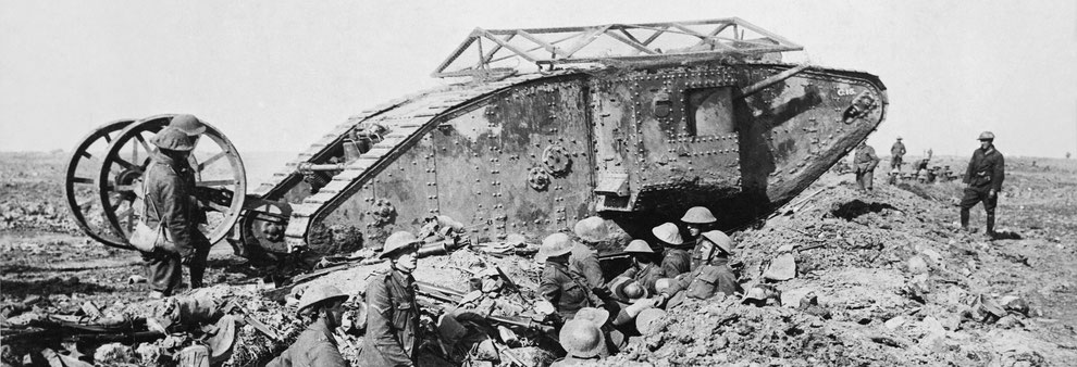 World War One British tank.