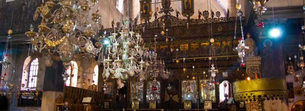 Church of the Nativity in Bethlehem, Israel.