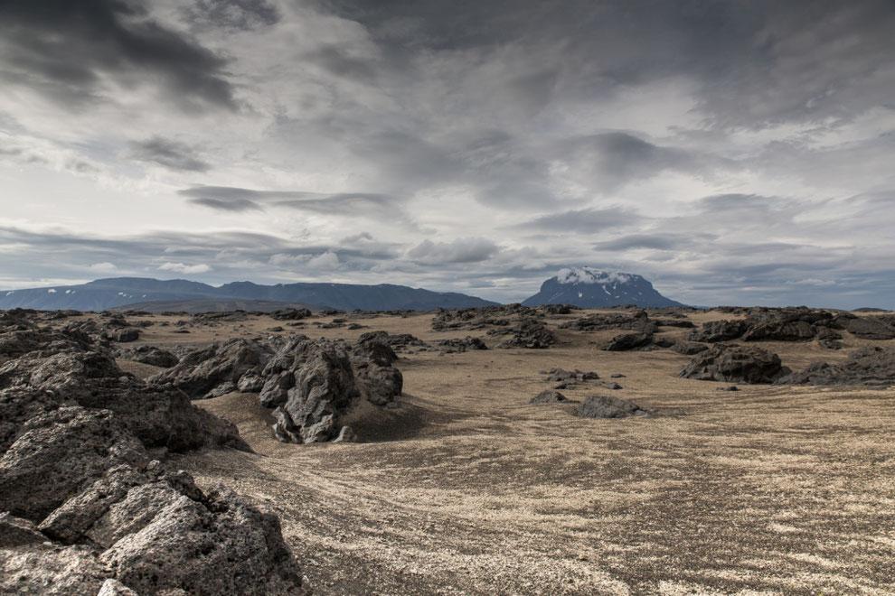 Centre de l'Islande, désert de pierres et de sable
