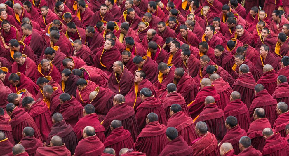 Grande réunion des moines du Monastère de Labrang, Tibet Oriental