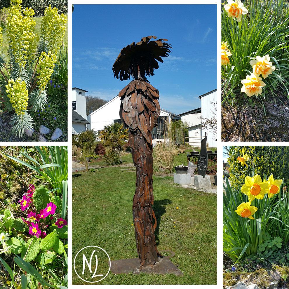patience, fleur, sculpture