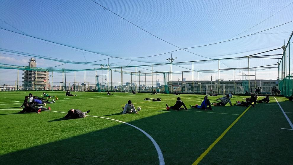 長谷川ゆうのフットゴルフコースをラウンドするための練習会