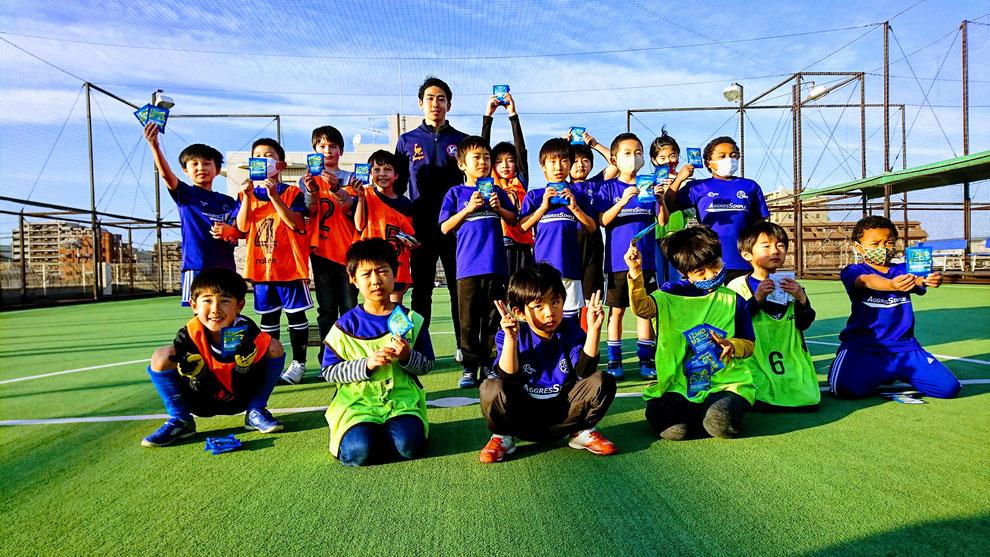 FリーグY.S.C.C.横浜所属 笠篤史選手×RGBFCジュニアフットサルスクール=未来のピヴォ