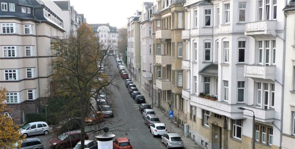 Chemnitz-Kaßberg: Blick auf gründerzeitliche Wohngebäude an der Erich-Mühsam-Straße
