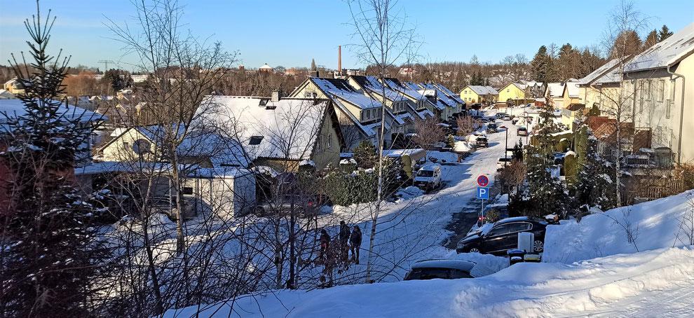 """Chemnitz-Reichenhain: winterlicher Blick auf das Wohngebiet """"Reichenhainer Mühlberg"""""""