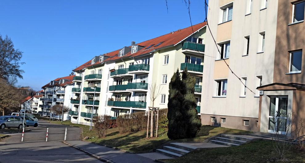 Chemnitz-Reichenbrand: kleinstädtische Wohnstrukturen an der Talstraße