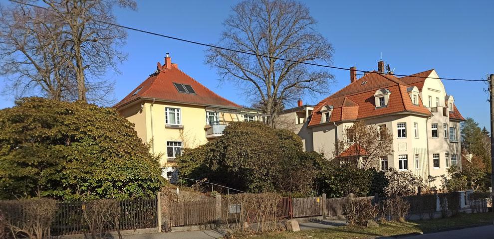 Chemnitz-Schönau: Blick auf Wohngebäude an der Guerickestraße