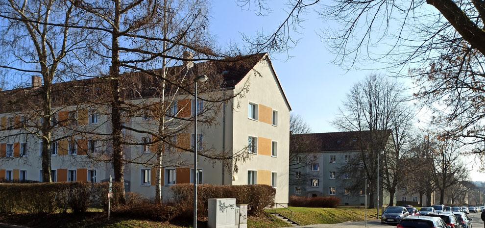 Chemnitz-Siegmar: Blick auf Wohngebäude an der Kopernikusstraße
