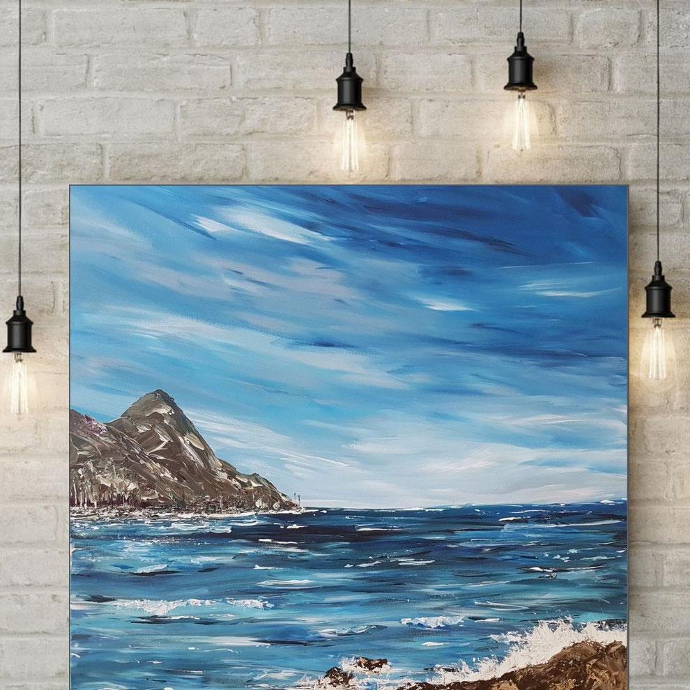 tableau-paysage-ocean-montagne-peinture-marine-tableau-carre-royan-audrey-chal