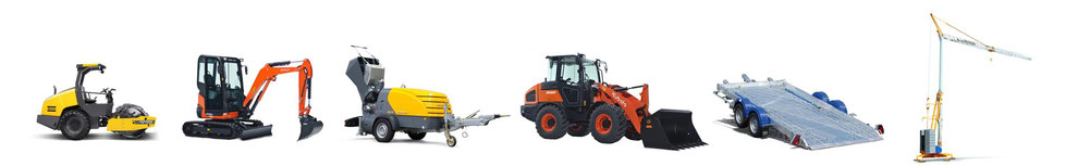 Compacteur, mini pelle, machines a projeter, pompes a chape, chargeuse; remorque, grue, vente et location